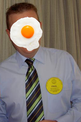 Paul Bennet with egg